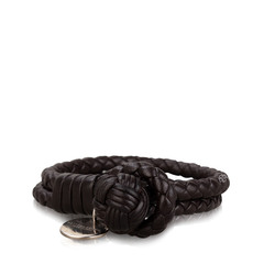 Bottega Veneta Intrecciato Double Row Bracelet