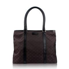 Gucci Canvas Monogram Bag in Brown