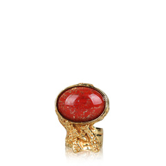 Saint Laurent Arty Ring in Red Size 6