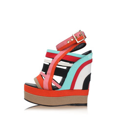 Pierre Hardy Multicolor Strapy Wedges