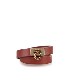 Salvatore Ferragamo Gancini Bracelet in Brown