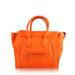 Celine Mini Luggage Bag in Orange