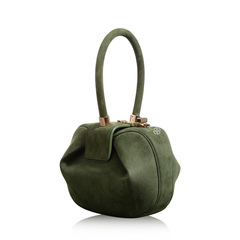 Gabriela Hearst Demi Green Suede Bag