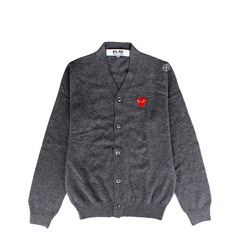 Comme des Garcons Play Sweater in Grey
