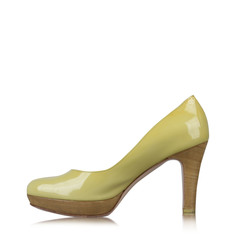 Salvatore Ferragamo Green Patent Leather Pumps Shoes Heels