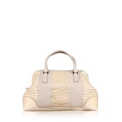Bottega Veneta Intercciato leather in White Limited Edition