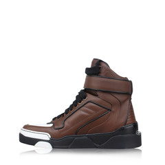 Givenchy Men's Metal-Trimmed Leather High Top Multicolor Sneakers