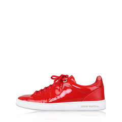 Louis Vuitton Red Patent Calfskin Frontrow Sneakers