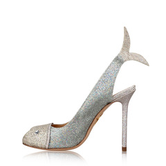 Charlotte Olympia Women's Metallic 'Finley' Fish Pump