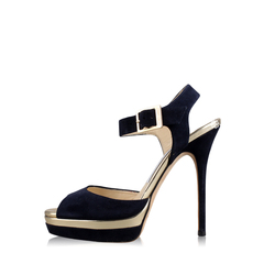 Jimmy Choo Pavlova Suede and Leather Sandals