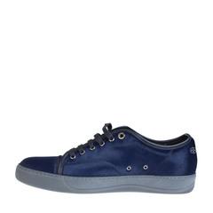 Lanvin Pony Effect Calfskin Low Top Sneaker Blue