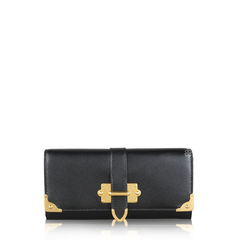 Prada Leather Wallet Black