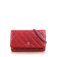 Chanel Wallet on Chain Red Leather