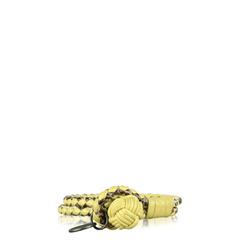 Bottega Veneta Intrecciato Leather Double-Row Wrap Bracelet