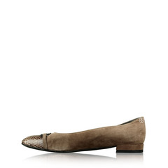 Stuart Weitzman Stringon Womens Leather Flat Shoes
