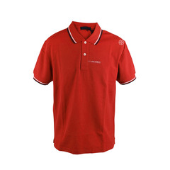 Prada Bright Red Signature Stripe Polo Shirt Prada