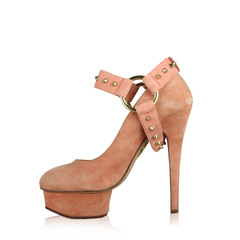 Charlotte Olympia Detachable Ankle Pump Suede