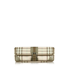 Burberry Pink Nova Check Convertible Clutch Bag