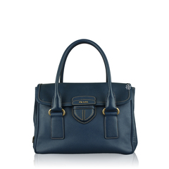 Prada Pattina Saffiano Bluette Bag
