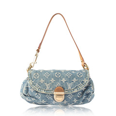 Louis Vuitton Pleaty Denim Mini Shoulder Bag code CA0095