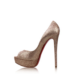 Christian Louboutin Lady Peep 150 Glitter Mini Pump