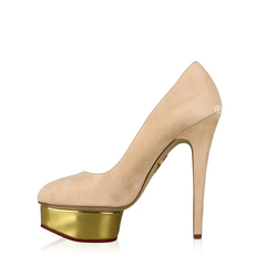 Charlotte Olympia Dolly Signature in Blush Pink