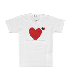 Comme Des Garcons Play Tee Women