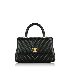 Chanel Chevron Coco Handle Bag