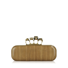Alexander McQueen Knuckle Box Clutch in Metallic