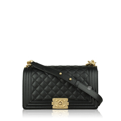 Chanel Boy Medium Caviar Leather