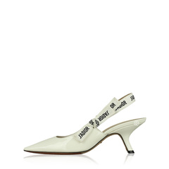 Christian Dior Patent J'Adior Slingback Pumps in Off White