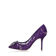 Dolce & Gabbana Rainbow Belluci Heels 90mm in Violet