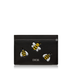 Christian Dior DIOR x KAWS Black Card Holder with Yellow Bees