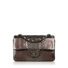 Chanel Bronze Metallic Python Flap
