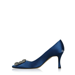 Manolo Blahnik Hangisi Royal Blue Shoes