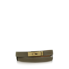 Hermes Kelly Belt Gold Etoupe