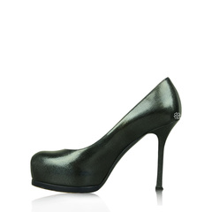 Saint Laurent Green Patent Stilleto Platform