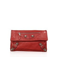 Balenciaga Envelope Clutch Red