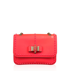 Christian Louboutin Spikes Sweet Charity Pink Leather Shoulder Bag