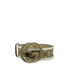 Gucci Monogram Canvas Interlocking GG Belt