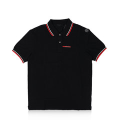 Prada Nero Signature Stripe Polo Shirt