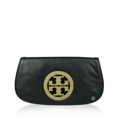 Tory Burch Logo Clutch Black