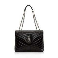 Saint Laurent Medium Loulou Shoulder Bag in Black Quilted SHW