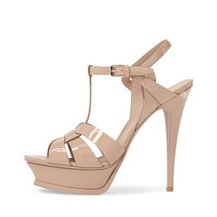 Saint Laurent Tribute 14cm in Nude Poudre Patent