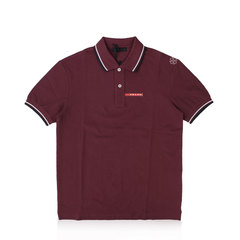 Prada Bordeaux Signature Stripe Polo Shirt M