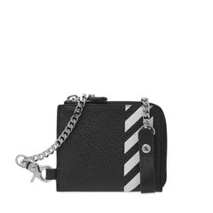 Off-White Zip Chain Wallet Black