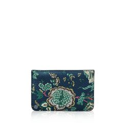 Tory Burch Floral Tassel Top Zip Card Case