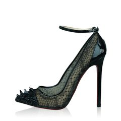 Christian Louboutin Picks Co Lace Potpourri Spiked 120mm