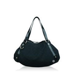 Gucci Canvas Hobo Bag Black