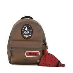 Coach Disney X Coach Mickey Patches Leather Mini Charlie Backpack